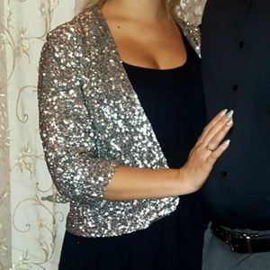 GORGEOUS silver sequin jacket